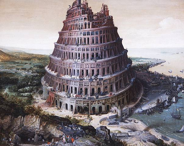 Lucas van Valckenborch: The tower of Babel (1568)
