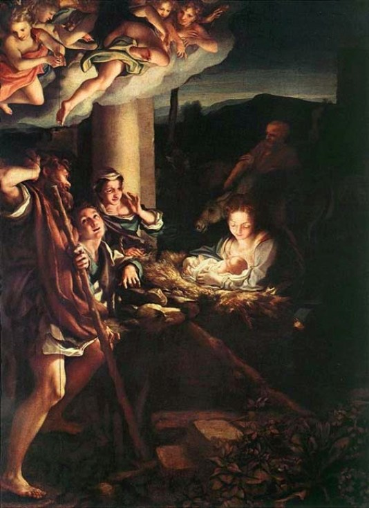 Birth of Jesus by Antonio Allegri, called Correggio, 1528