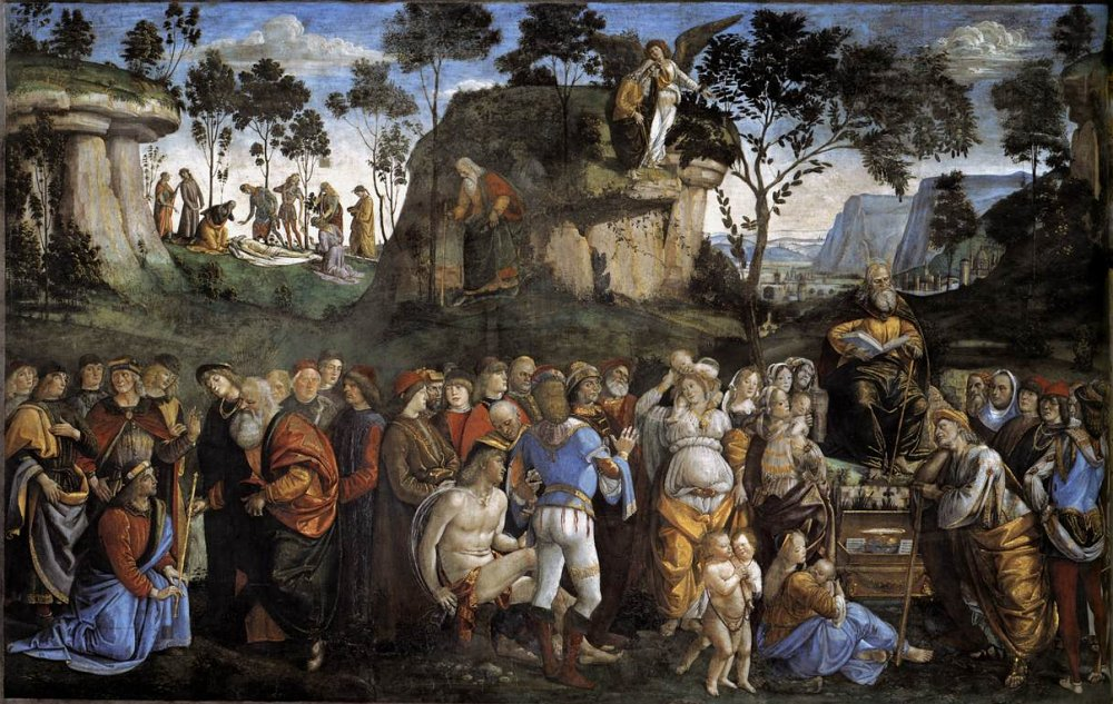 Last Acts and Death of Moses by Luca Signorelli Cir 1481-82