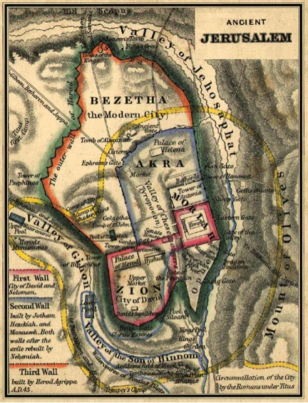 Ancient Map of the Temple Mount