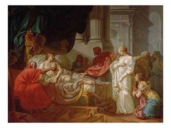 Death of Antiochus Epiphanies IV by Ambrose Thomas 1834