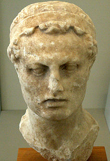 Bust of Antiochus Epiphanies IV from Altes Museum in Berlin
