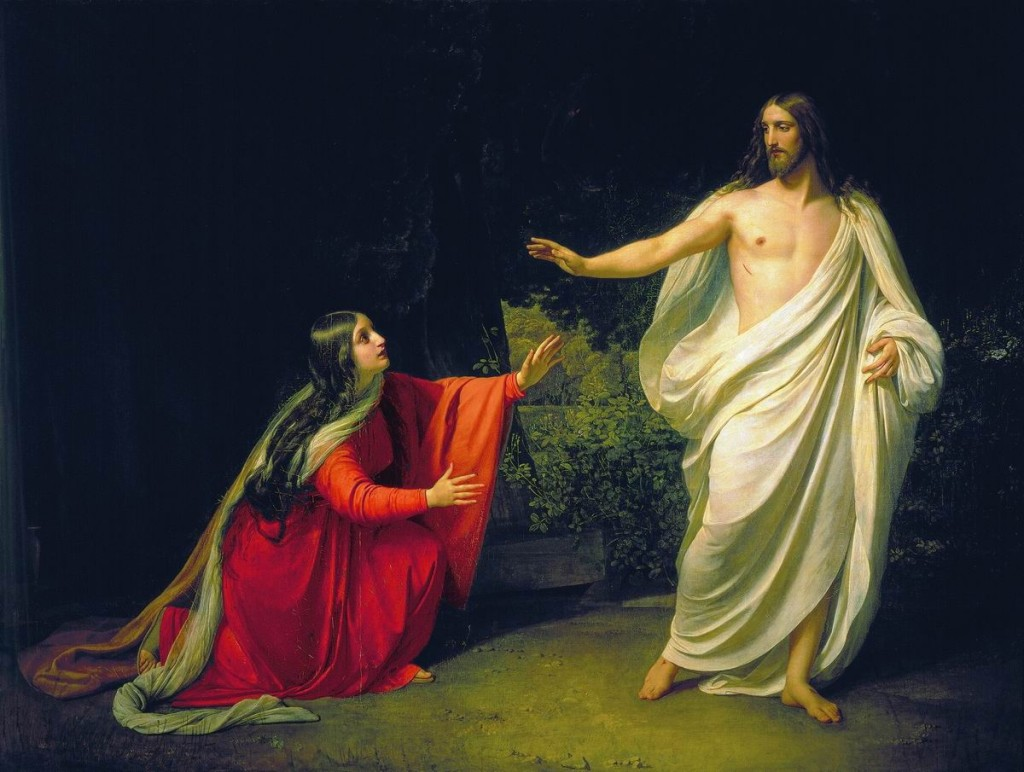 The resurrected Jesus appears to Mary Magdalene by Alexander Ivanov 1806-1858
