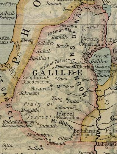 Ancient Map of Galilee