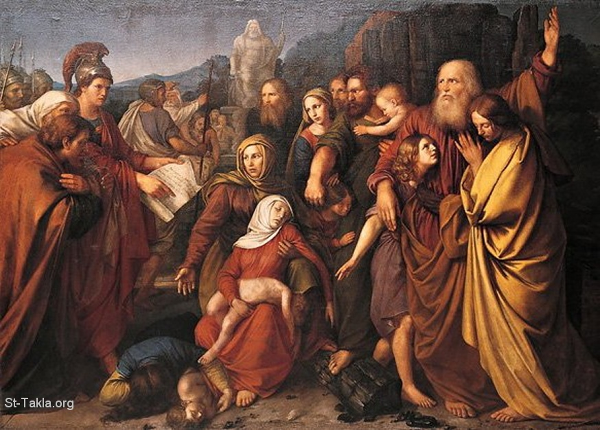 Wojciech Stattler, Machabeusze or the Maccabees painting, 1842