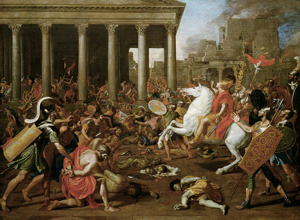 Conquering of Jerusalem by Titus Painting by Nicholas Poussin 1638
