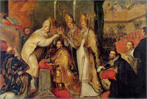 Coronation of Charles V The Holy Roman Empire by Cornelius I Schut Cir. 1600
