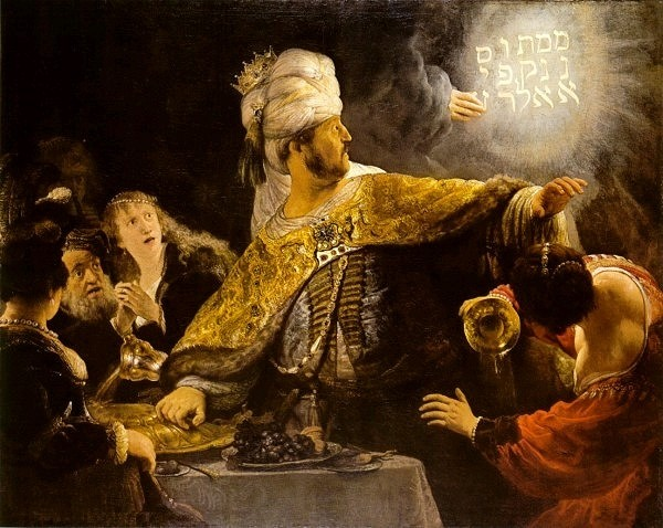 Belshazzar's Feast  by Rembrandt cir. 1635