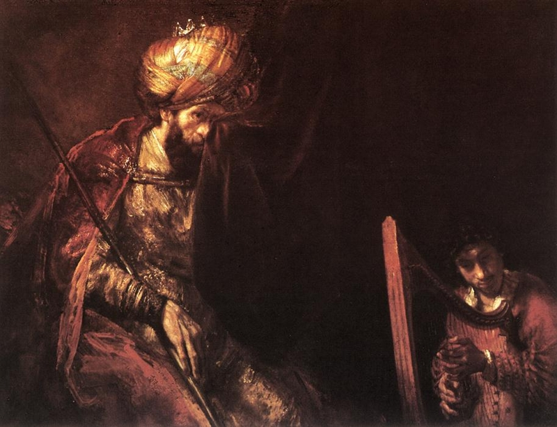 Saul and David by Rembrandt van Rijn Cir 1660