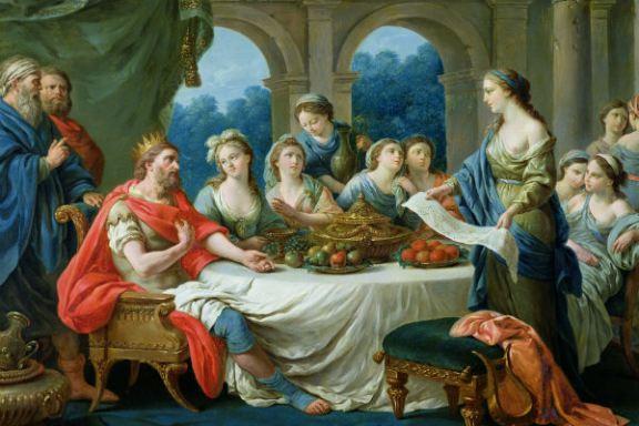 Esther & Ahasjerus by Francois Langrenee cir 1775-80