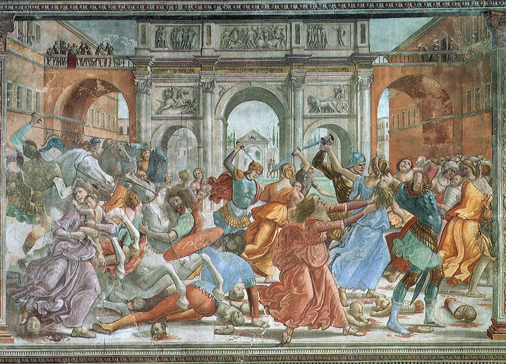 Massacre of the Innocents by Domenico Ghirlandalo Cir 1486-90