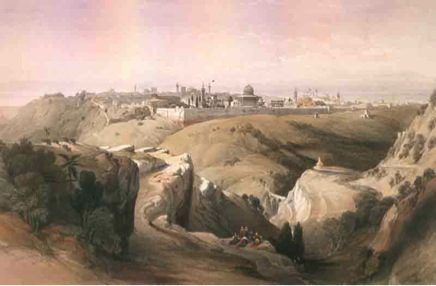 The Valley of Jehoshaphat by David Roberts Cir 1840