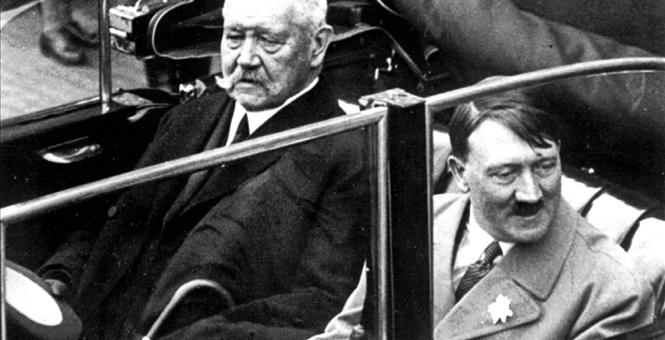 German Chancellor Hitler and President von Hindenburg