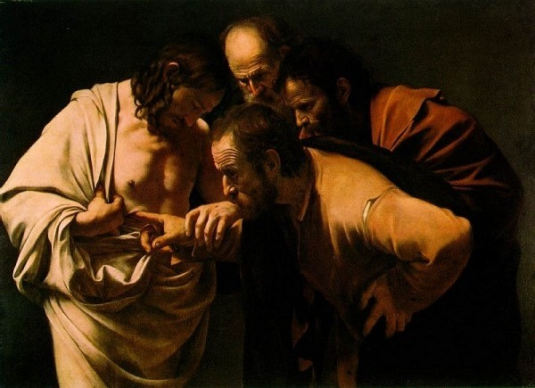 Doubting Thomas by Caravaggio Cir 1602-03