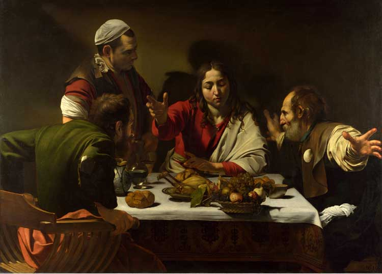 Supper at Emmaus by Caravaffio Cir 1601