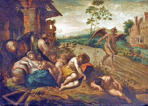 Parable of the Wheat and tares by Abraham Bloemaert -The Devil Sowing Tares Cir 1566-1651