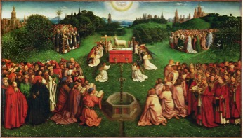 ADORATION OF THE LAMB BY JAN VAN EYCK CIR 1432
