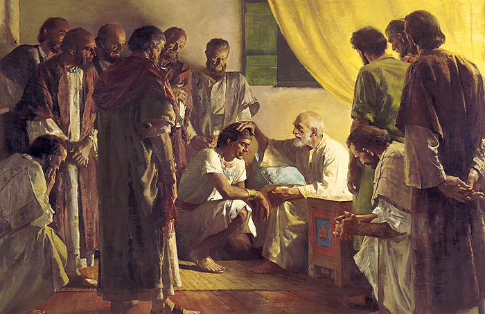 jacob Blessing His 12 sons by Harry Anderson