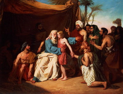 Jacob Refusing to Release Benjamin by Adolphe Roger Cir. 1829