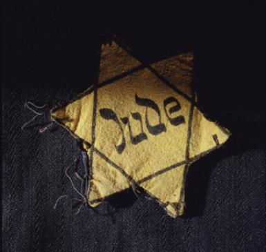 Nazi Yellow Star Pined on Jews