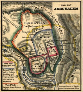 Ancient City of Jerusalem and Valley of Jehosaphat.