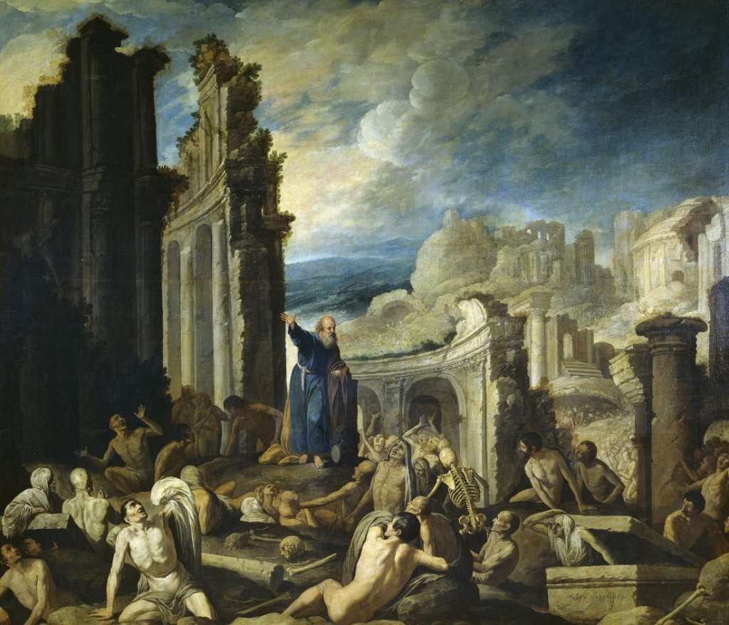 The Resurrection of Israel in The Vision of Ezekiel by Francisco Collantes Cir 1630.