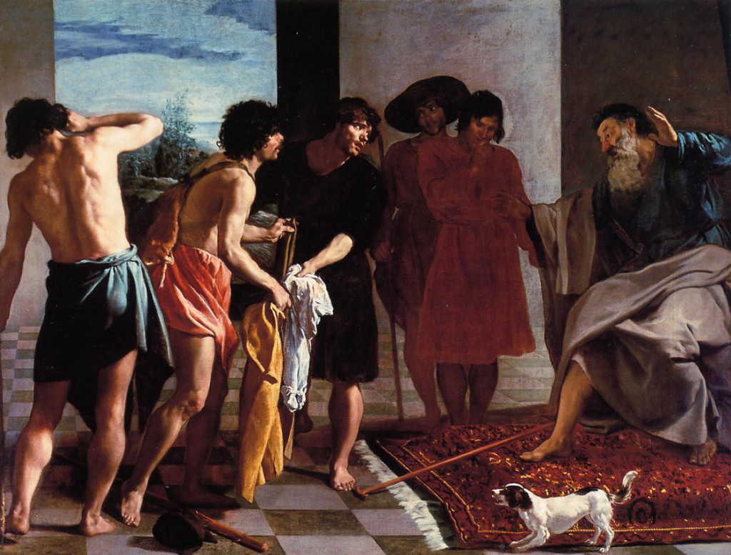 Joseph's Bloody Coat Brought to Jacob Diego Rodriguez da Silva y Yelazquez Cir 1599
