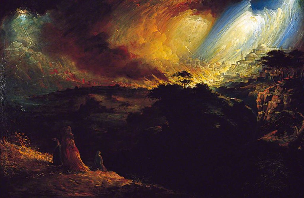 Martin, John; The Destruction of Sodom and Gomorrah; Scarborough Collections; http://www.artuk.org/artworks/the-destruction-of-sodom-and-gomorrah-8950