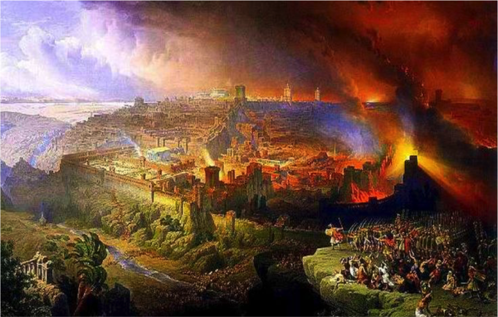 Jerusalem Burning by David Roberts Cir 1850